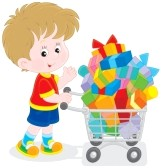 27776434-boy-with-a-shopping-trolley-of-gifts